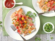 I have no idea where I got this recipe or who Donna is, but this is a simple and tasty enchilada dish. It goes together quickly because you start with a rotisserie chicken. Easy Chicken Pot Pie, How To Cook Chicken, Chicken Recipes, Turkey Recipes, Lasagna With Ricotta, Mexican Food Recipes, Dinner Recipes, Mexican Dishes, Creamy Chicken Enchiladas
