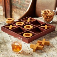 Studio Mercantile Tic-Tac-Toe Game, Created for Macy's - Brown Restaurant Themes, Game Black, Tic Tac Toe Game, Game Pieces, Card Games, Vintage Inspired, Diy And Crafts, Create, Macys Gifts