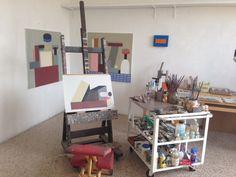 Nathalie Du Pasquier's studio in Milan <br>Photo: Hili Perlson