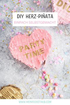 Kreative DIY-Idee zum Selbermachen: Herz-Piñata als tolle Party-Idee und DIY Geschenk-Idee - mit Schritt-für-Schritt-Anleitung