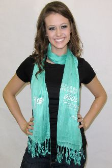 "For Graduating Seniors: ""And we know that all things work together for good"" Mint Scarf"