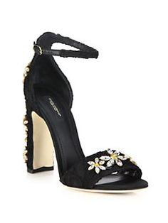 Dolce & Gabbana - Daisy Embellished Lace Sandals