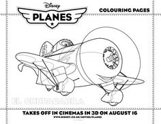 Planes Coloring Pages Disney