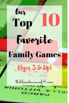 Don't miss our top 10 favorite family games. These games are great boredom busters for the kids or for family game night. Kid and adult approved! Family Game Night, All Family, Family Games, Family Activities, Kid Games, Indoor Activities, Family Life, Classic Card Games, Stuck In The Middle