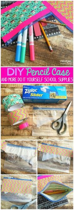 Such a fun and easy DIY Pencil Case made with a Ziploc bag and Bright and Durable Duct Tape Designs. Match to your…