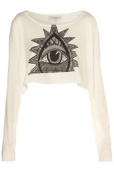 **Illustrated Eye Crop Top by Illustrated People