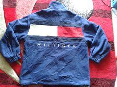vintage tommy hilfiger jacket sweater big logo by dinofullcolor