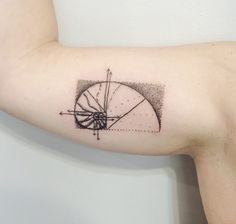 Fibonacci's spiral/ golden ratio inspired tattoo.  Artist: Paul Bachman @ Minds Eye Tattoo in Emmaus, PA