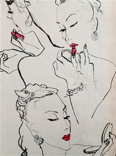 ALMOST CERTAIN THIS IS BY ERIC-- Coty lipstick, 1945