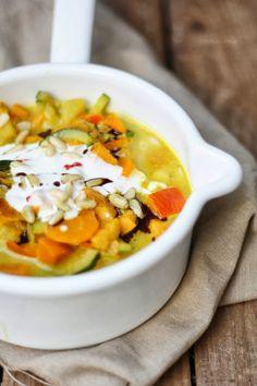 cremiges Süßkartoffel-Kürbis-Curry