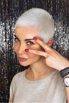 Bildergebnis für ultra short buzz hairstyles for women