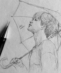 Adı Jimin miydi :D? Sad Drawings, Kpop Drawings, Art Drawings Sketches Simple, Pencil Art Drawings, Fanart Kpop, Jimin Fanart, Art Triste, Arte Sketchbook, Dibujos Cute