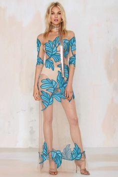 Nasty Gal x @forloveandlemon Chiquita Embroidered Maxi Dress