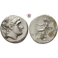 Syrien, Königreich der Seleukiden, Antiochos Hierax, Tetradrachme 261-246 v.Chr., ss+: Antiochos Hierax 246-227 v.Chr. Tetradrachme… #coins