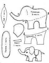 Resultado de imagem para molde de elefante em tecido