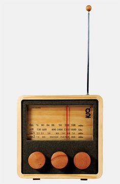 How cool is this...a wood radio!