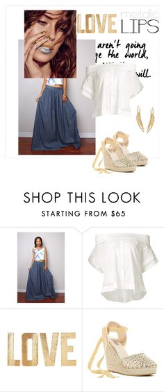 """""""Untitled #3122"""" by janicemckay ❤ liked on Polyvore featuring Sea, New York, PBteen, Catherine Catherine Malandrino, Ross-Simons and metalliclips"""
