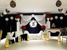 Debut Decorations, Debut Party, Valance Curtains, Design, Home Decor, Decoration Home, Room Decor, Home Interior Design