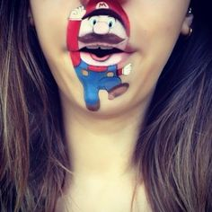 Instagram photo by laurajenkinson - Super Mario! 🎮 #makeup #supermario #lipart