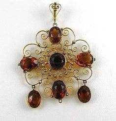 Norwegian Wedding Pendant – Citrines and Gilt Shades Of Gold, Dark Shades, Norwegian Wedding, Mother Family, Orange Color, Belly Button Rings, Silver Jewelry, Drop Earrings, Homeland