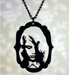 Zombie Girl Night of the Living Dead inspired Necklace in stainless steel from Fable and Fury on Etsy for $26
