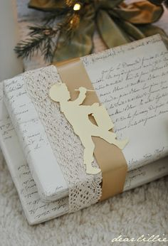 Gorgeous drummer boy cutout for gift wrapping