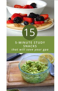 5-Minute Study Snacks That Will Save Your GPA and Your Life