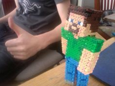 Minecraft man in hama beads