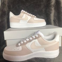 Nike Shoes | Brown Color Block Air Force Ones | Poshmark Brown Nike Shoes, Dr Shoes, Cute Nike Shoes, Swag Shoes, Hype Shoes, Jordan Shoes Girls, Girls Shoes, Look Body, Nike Shoes Air Force