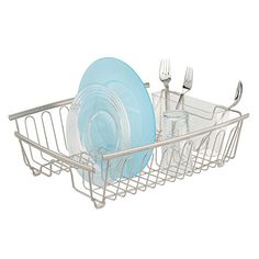 Premium Drip Tray Dish Drainer Mat Plastic Kitchen Dish Draining Rack Dish Drain Board Sink Side Drip Sloping Draining Tray for Pots Pans Bowls Fruit Vgetable Drain Cooking Holder Tools Blue Glass