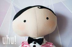 Mieciu - Tilda Sweetheart świąteczna lalka w uhu! handmade na DaWanda.com