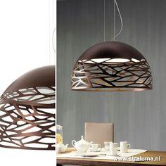Grote hanglamp Kelly koepel eettafel - www.straluma.nl