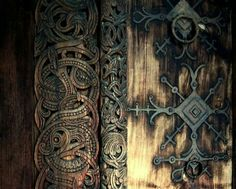 Door on a Stav Chruch, Norway