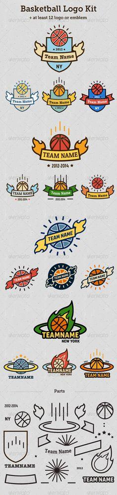 Buy Basketball Logo Kit by stre_kaza on GraphicRiver. Basketball Logo Kit Make your own unique basketball logo or emblem! Logo Basketball, Ball Birthday Parties, Logo Branding, Font Logo, Sport Photography, Logo Color, Logo Inspiration, Logo Templates, Color Change