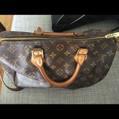 Louis vuitton speedy bandouliere 30 No trade no low baller!!. In mint condition. Some part of the straps and the leather have some dark color due to wear. Which is normal for LV. Also the brass not shiny anymore. Lost the dust bag and box. Louis Vuitton Bags Crossbody Bags