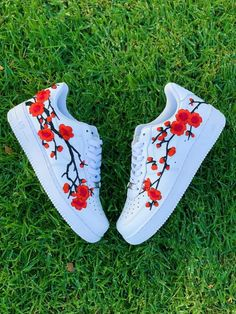 Cherry Blossom Nike Air Force Nike Shoes, Custom Sneakers, Cherry Blossom, Nike All Nike shoes are authentic and brand new with tags! Cute Nike Shoes, Cute Nikes, Nike Air Shoes, Jordan Shoes Girls, Girls Shoes, Shoes Women, Nike Air Force, Air Force Shoes, Air Force 1 High