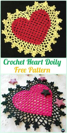 Crochet Heart Doily Free Pattern - Crochet Doily Free Patterns