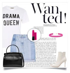 """""""60s second outfit with ankle boots"""" by andriana-aaa on Polyvore featuring Love, Gianvito Rossi, AG Adriano Goldschmied, MAC Cosmetics, Jil Sander and Kenneth Jay Lane"""