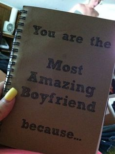 What I got my boyfriend for valentines day, I filled it with pictures, songs, memories: