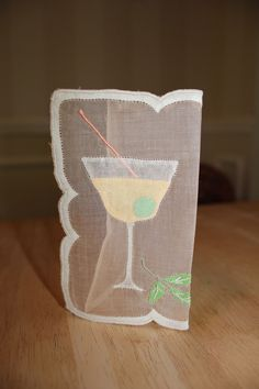 Marghab Style Vintage Martini Cocktail Napkins Set of 14 New Old | eBay