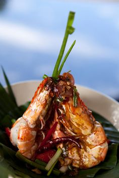 Kasma's Southern Style Spicy Tamarind Prawns with Crisped Shallots and Garlic recipe at TempleofThai.com #thaifood