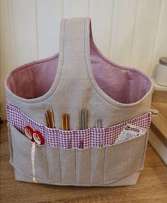 Knitting Bag Project Ideas 40 New Ideas Stricken ist so einfach wie 1 2 3 D Sewing Hacks, Sewing Tutorials, Sewing Patterns, Knitting Projects, Sewing Projects, Diy Knitting Bag, Knitting Ideas, Simple Knitting, Easy Projects