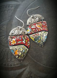 Tin Earrings Kuchi Banjara Flower Jewelry Flowers