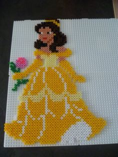Belle Disney hama perler by mamypapou