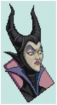 PDF Cross Stitch pattern  0247.Maleficent  Sleeping Beauty