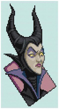 Maleficent x-stitch