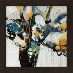 Blooms In Shamrock Grey Framed Wall Art - 33 x 33 - Fine Home Lamps Painting Frames, Painting Prints, Wall Art Prints, Framed Prints, Abstract Paintings, Contemporary Wall Decor, Canadian Art, Texture Art, Cool Posters