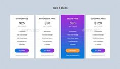Web Pricing Tables Design Template PSD