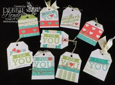 Debbie's Designs: My Paper Pumpkin April! Look at all the gift tags you can make with the kit!