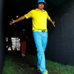 I hope to have golf clothes as awesome as his some day! Love his style
